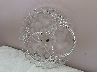 Etched Crystal Fruit Platter Tray 29cm Made In Germany