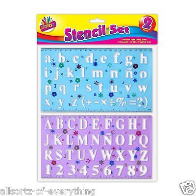 Stencils Plastic Letters Numbers Alphabet Upper & Lower Case Stencil