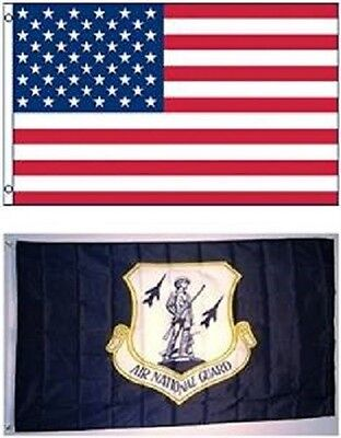 Wholesale LOT 3' X 5' U.S. AMERICAN & US Air National Guard FLAG Banner 3X5