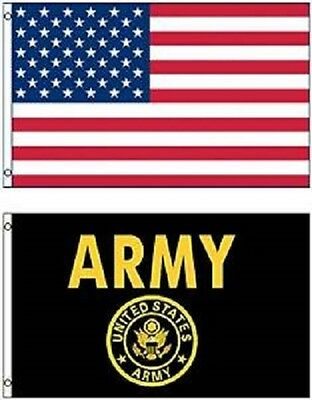 Wholesale LOT 3' X 5' U.S. AMERICAN & US Army Seal Crest Emblem FLAG Banner 3X5