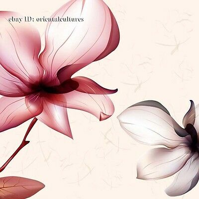 Chinese 100% real natural silk thread,su hand embroidery kits:flower 8inches