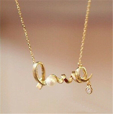 New women's retro hollow Fashion LOVE pendant necklace Best gift  H13