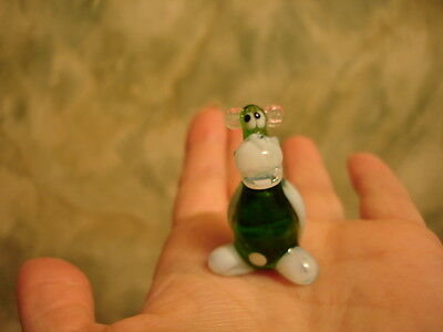 Russian Murano Glass Monkey Figurine Hand-Blown Glass Art