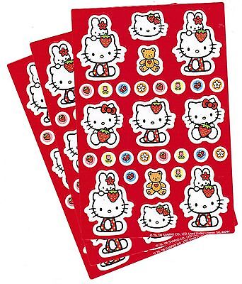 SANRIO Hello Kitty Strawberry and MINI Stickers 3 Sheets!