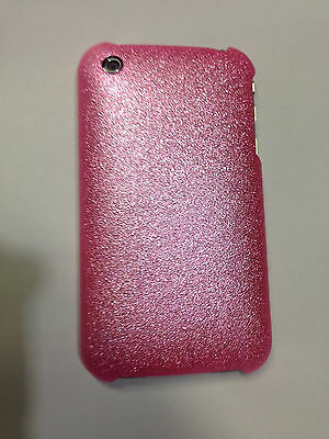 New Pink Glitter Plastic Case Hard Cover & LCD Protector For Apple iPhone 3G 3GS