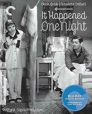 IT HAPPENED ONE NIGHT CRITERION BLU-RAY GABLE COLBERT NEW SEALED FS + TRACKING!!