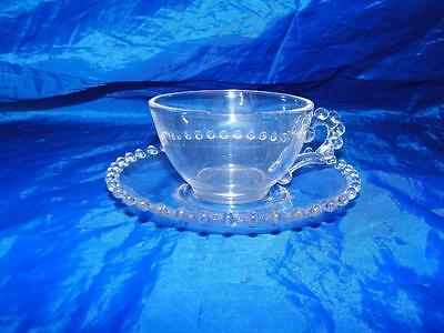 Imperial Candlewick Cup Saucer Set Clear 13423