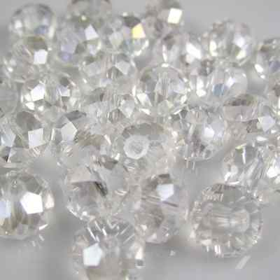 100pcs 4mm Jewelry Faceted Rondelle crystal #5040 3x4mm Beads WhiteAB colors D