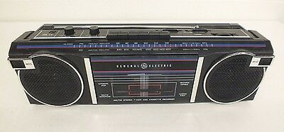 Vintage GE General Electric 3-5623A AM/FM Stereo Cassette Boombox BROKEN TAPE