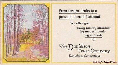 Vintage Illustrated Advertising Ink Blotter Danielson Trust Co. CT.