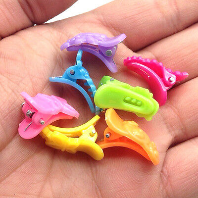 NEW Free shipping 30pcs Fashion Mixed colors Plastic Hair Clip Clamp 4D