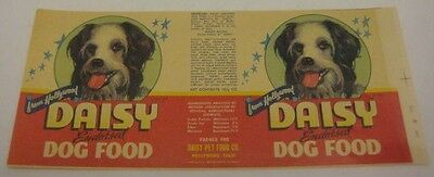 Old 1948 Dagwood & Blondie Daisy Dog Food Label - Hollywood Character Pet