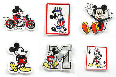 6pcs Cute Cartoon Mickey  Embroidered Iron/Sew ON Patch Kids Cloth Applique