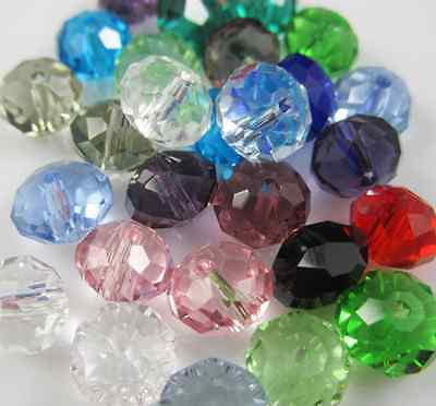 100pcs 4mm DIY Jewelry Faceted Rondelle crystal P5040 3x4mm Beads Mixed colors D