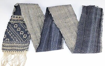 Exotic Chinese minority people's old  hand-woven embroidery textile band belt