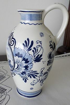 "7"" BLUE DELFT BOLS PITCHER/JUG made in HOLLAND HANDWERK- WINDMILL- NUMBERED"