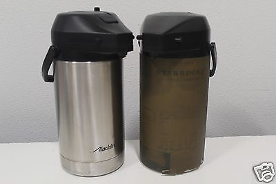 Lot of 2 Aladdin Thermal Coffee Dispenser w/Starbucks Cover & Free Fast Shipping