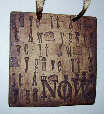 NEW - Artist Ramage - Give It Away NOW - Be Tidy Mini Hanging Wall Plaque