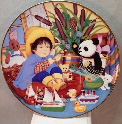 """1987 Franklin Mint Carol Lawson """"The little Fisherman"""" Collector Plate"""