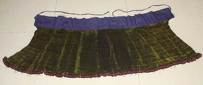 Big  Tribal Exotic Chinese minority people's old hand local cloth pleasted skirt