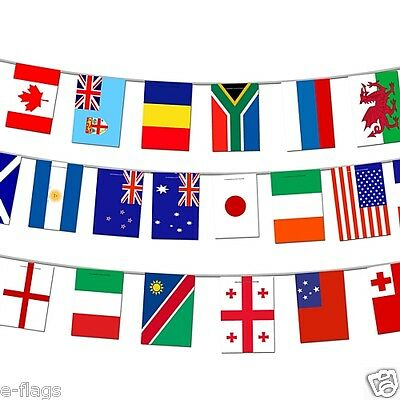 Massive International Teams Rugby Fabric Bunting X Large Flags