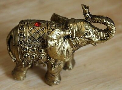 "Royal Indian Elephant Figurine - 3.5"" L x 3"" H - Bingo- good luck  FREE SHIPPING"