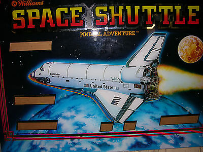 1984 Space Shuttle pinball backglass by Williams (new/original)