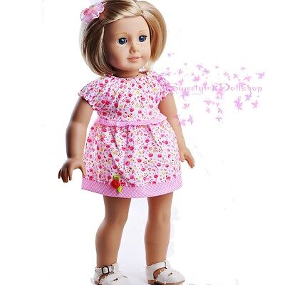 """New Doll Clothes fit 18"""" American Girl  Pink Cute Skirt Dress outfit Selection"""