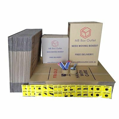 30X50L +20X100L Cardboard Packing Boxes Removal Moving Storage Heavy Duty Carton