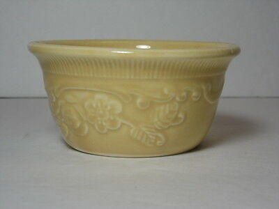 1960 VTG Yellow Taylor Smith Taylor TST Embossed RAMEKIN Genuine Oven Serve Ware