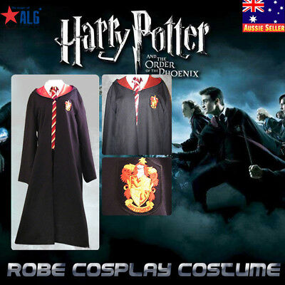 NEW Unisex Harry Potter Gryffindor Adult Costume Robe Cloak Cosplay Fancy Dress