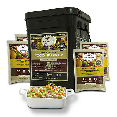 Wise products long term food storage 60 servings meat pasta and rice bucket