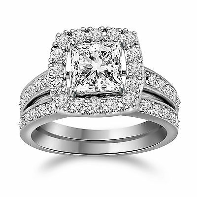 Platinum Plated Ladies Engagement Ring in 925 Sterling Silver + BLACK DIAMOND