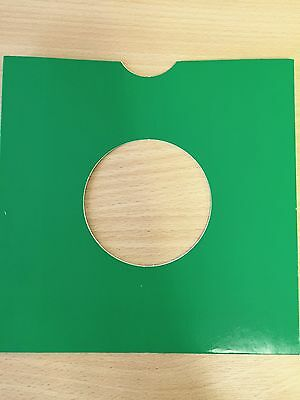 "25 X 7"" Green Card Record Masterbags Sleeves / Covers *new*"