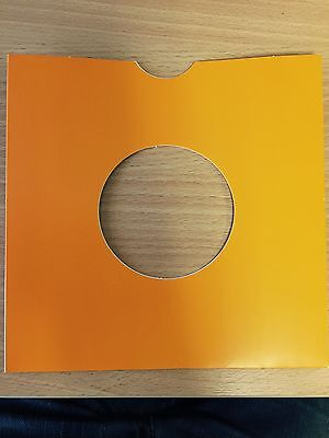 """25 X 7"""" Orange Card Record Masterbags Sleeves / Covers *new*"""