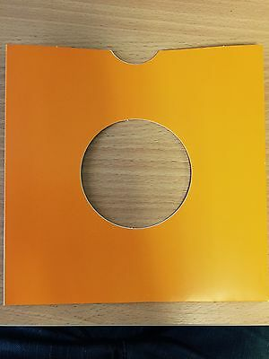 """25 X 7"""" Orange Card Record / Vinyl Masterbags Sleeves / Covers *New*"""