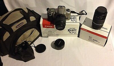 Canon EOS Rebel XS N Film Camera . 75-300mm f/4-5.6 III Zoom EF .Tele Converter