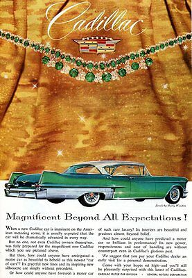 "ORIGINAL  1957  CADILLAC  4-DOOR  HARDTOP  Advertisement - 6 1/2 "" x 9 1/2 """