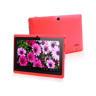 """Red Hot 7""""Google Android 4.2 A23 Dual Core Cams 8GB Tablet PC Wifi 1.5GHz MID ky"""