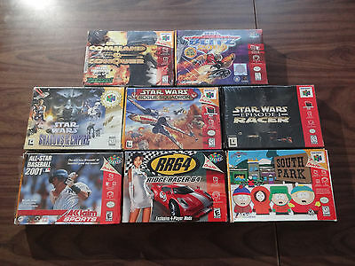 Star Wars Rogue Squadron +Shadows of the Empire+Episode 1 Racer +5 N64 Complete
