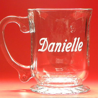 Personalized Coffee Tea Mug 15 oz Engraved Glass Father's Day Birthday Office