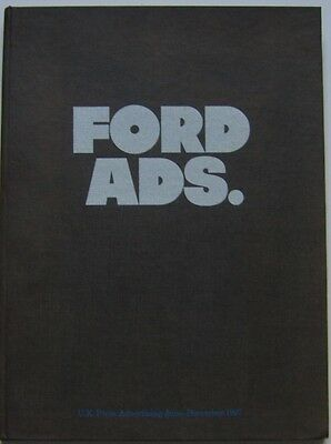 Ford Ads  UK Press Advertising June-Dec 1967 Compilation Book Cortina Corsair ZZ