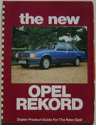 Opel Rekord E 1977 UK Dealer original Product Guide Saloon Estate Berlina Diesel