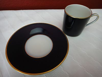 Rosenthal antique (1940's) blue and white demitasse (cup and saucer)