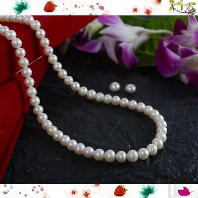 Simple Classy Elegant beauty 16 inches 6mm Pure Fresh Water Round Pearl Necklace