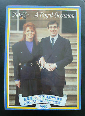 Unused boxed 500 piece jigsaw for wedding of Andrew & Fergie 1986-Hestair Puzzle