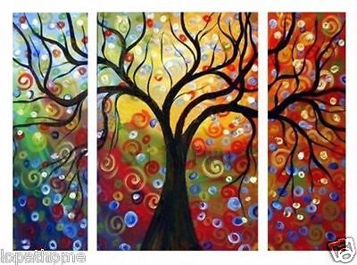 3pieces Large Modern Abstract Art Oil Painting Wall Decor canvas NO frame