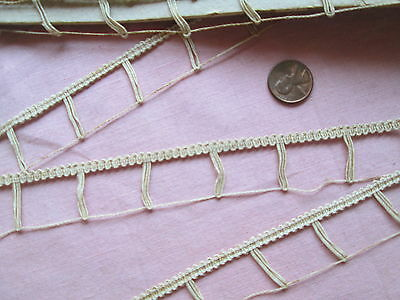 BUTTON LOOPS TRIM lace French vintage ANTIQUE WEDDING dress 2 yards
