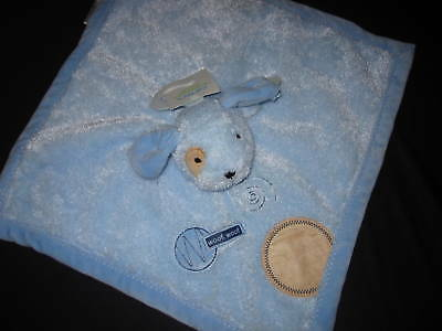 NWT Carter's Puppy Dog Security Lovey Rattle Blanket
