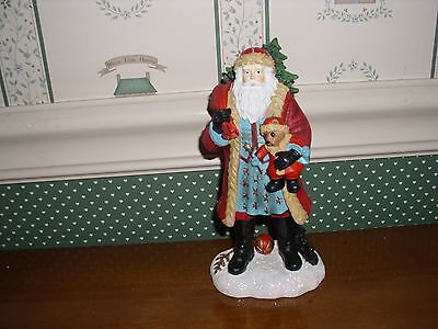 """PIPKA-REFLECTIONS OF CHRISTMAS COLLECTION-8""""H- SANTA AND TEDDY-NEW"""